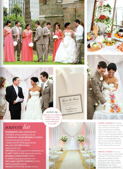 Magazine Spread featuring Morning Show Luxury Wedding