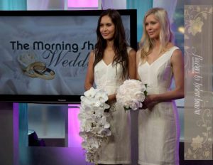 Selecting bouquets for the Luxury Wedding As Seen On The Morning Show!