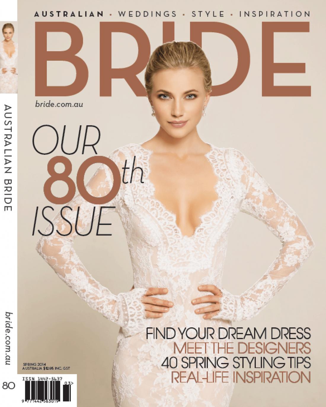 Bride Magazine 80th Issue Cover