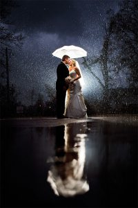 Rainy Day Wedding Photo by Unplugged Photography