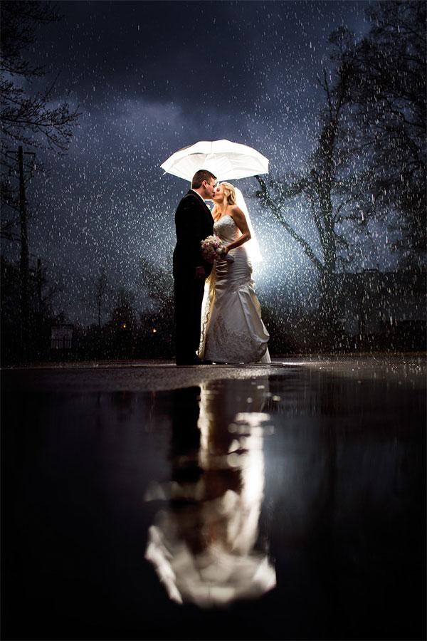 Rainy Day Wedding Photo by Unplugged Photography