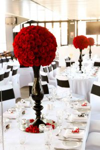 Loren and Dane's Red Rose Wedding  by Flowers By Helen Brown