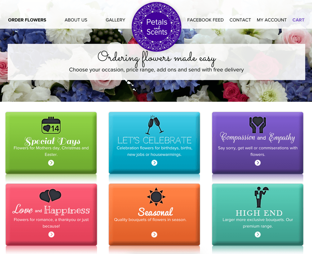 Petals and Scents Website