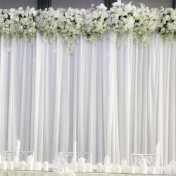 Bridal Table Backdrop 8m x 4mH