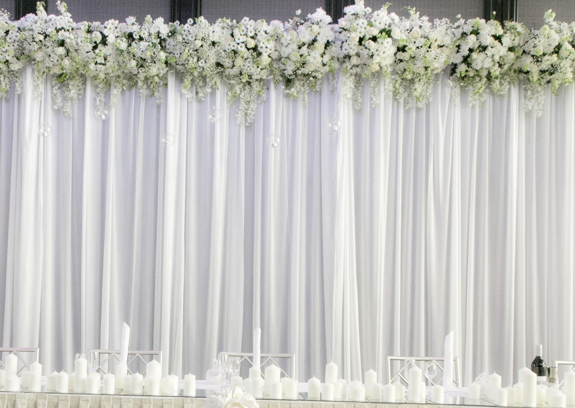 Bridal Table Backdrop 8m x 4mH