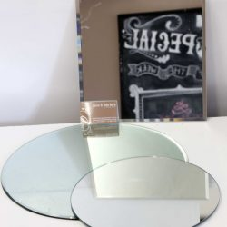 Bevelled Mirror Base 40cm and 30 cm