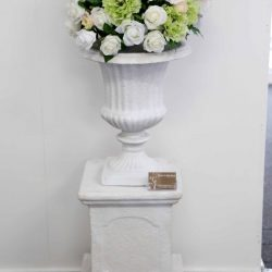 Urn and short pedestal